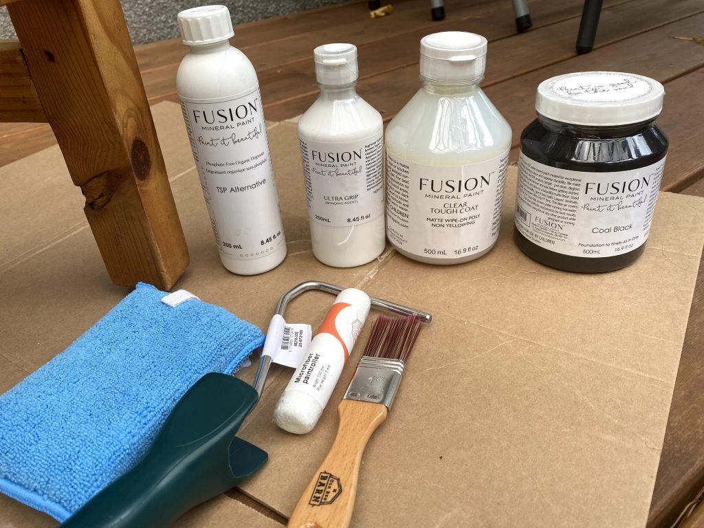 Fusion mineraalvärv, Tough coat vaha, puhastusvahend mööblile